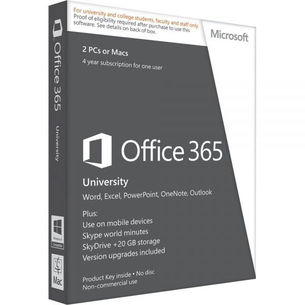 Tarkvara Microsoft Office 365 University 32-bit/x64 English Subscription 4 Year