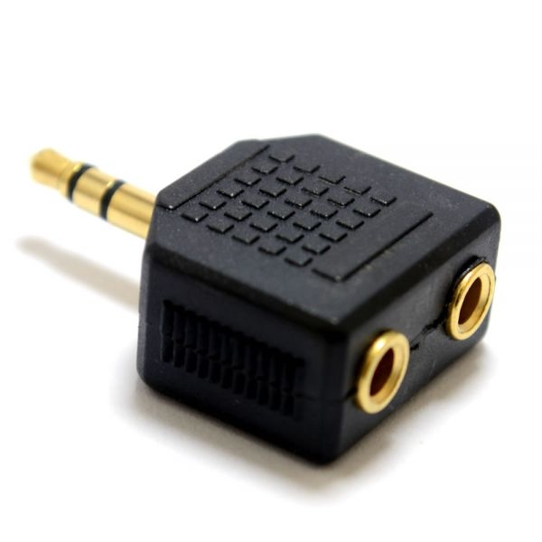 Adapter QNECT 3,5mm isa - 2 x 3,5mm ema