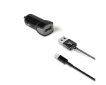 Car Charger Celly USB 2,4A, Light.cabel