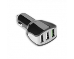 Car Charger Celly 3xUSB 4.4A, black