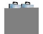 Screen safety glass Eiger 3D 360 iPhone 8 black, transparent