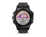Nutikell GARMIN FENIX 5 PLUS, must