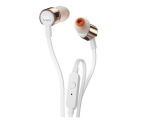 In-ear headphones JBL T210-white/gold