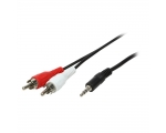 Stereo Cabel QNECT 3,5mm male - 2xRCA male 3m