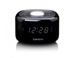 Clock radio LENCO CR-12BK, with night light