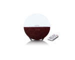 Clock radio LENCO CRW-4 with lighting - winered