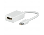 Adapter QNECT MiniDisplayPort male - HDMI female 0,1m