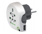 Reisiadapter Q2Power World to Europe USB