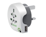 Reisiadapter q2power Europe to UK USB