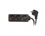 Extension plug SC ELECTRIC 8590P 3sockets 1,5m 16A black