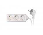 Extension plug SC ELECTRIC 8617P 3sockets 5m child lock 16A white
