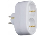 Plug SC ELECTRIC 8677 2sockets, with grounding, white 16A,