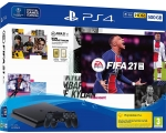 Konsool SONY PS4 500GB + FIFA 21 + pult PS4