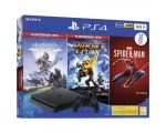 Konsool SONY PS4 500GB + Spider-Man, Horizon Zero Dawn, Ratchet & Clank
