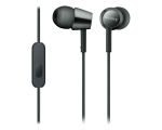 In-ear headphones with microphone Sony MDREX155-black