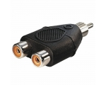 Adapter QNECT 303322 RCA male - 2 x RCA female