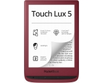E-luger POCKET BOOK TOUCH LUX 5, punane 6""