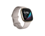Smart watch  FITBIT Sense, natural white/gold