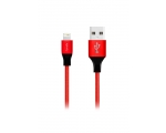 Cabel FONEX Lightning Textile 1m red