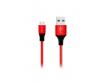 Cabel FONEX MicroUSB 1m red