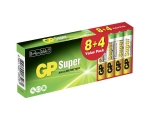 Battery GP Super AAA/LR03, 8+4 pcs