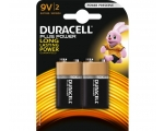 Patarei DURACELL Plus Power 9V 2-pakk MN1604