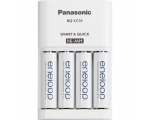 Power battery PANASONIC Eneloop 4xAA (1,5h) 1900mAh Charger BQ-CC55E