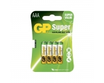 Batteries GP Super AAA/LR03, 4-pcs/pack