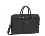 Laptop bag RIVACASE 15,6'' black imitation leather.
