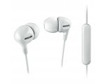 In-ear headphones with microphone Philips SHE3555WT/00, white