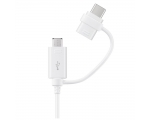 Cabel SAMSUNG Combo CableType-C, MicroUSB white
