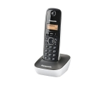 Phone PANASONIC KX-TG1611FXW wireless, DECT, black/white