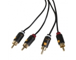 Stereo Cabel QNECT 2xRCA male - 2xRCA male 1,5m
