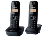 Phone PANASONIC KXTG1612FXH wireless, black