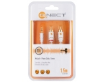 Stereo Cabel QNECT 3,5mm male - 2xRCA male 1,5m